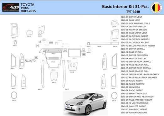 Chrysler PT Cruiser 2001-2005 Full Set, Without Power Mirrors, Manual Gearbox, 23 Parts set Interior BD Dash Trim Kit Car Tuning