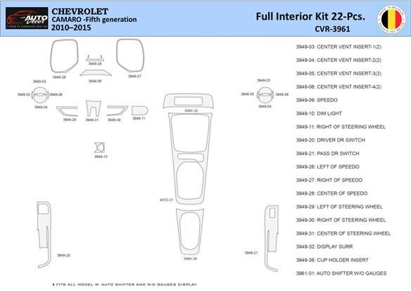 Chrysler PT Cruiser 2001-2005 Door panels, 4 Parts set Interior BD Dash Trim Kit Car Tuning Interior Tuning Interior Customisati