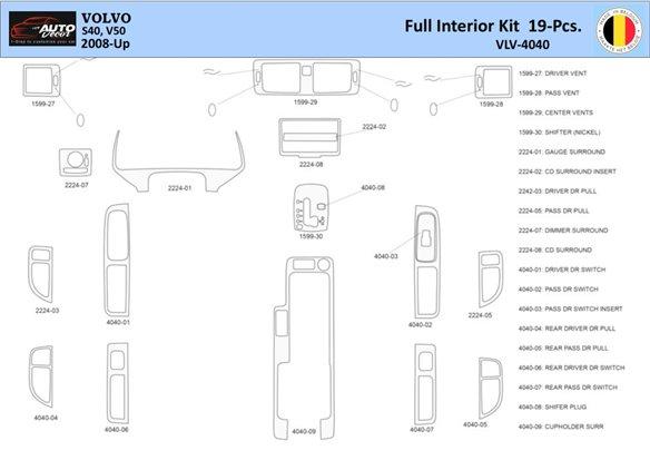 Chrysler 300M 1999-UP Chrysler 300M, 5 Gears-Automatic Gearbox Interior BD Dash Trim Kit Car Tuning Interior Tuning Interior Cus