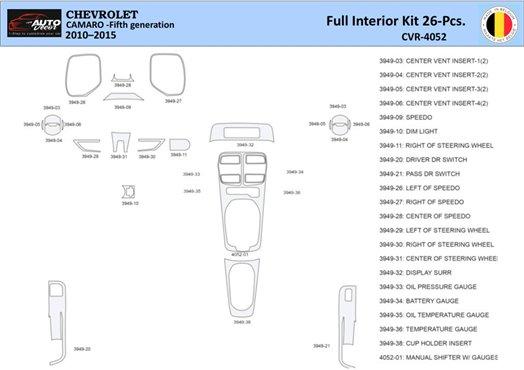 Chrysler Pacifica 2003-2004 Full Set, OEM Compliance Interior BD Dash Trim Kit Car Tuning Interior Tuning Interior Customisation
