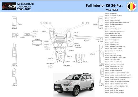 Chrysler 300 2005-2007 Full Set, With NAVI system Interior BD Dash Trim Kit Car Tuning Interior Tuning Interior Customisation UK