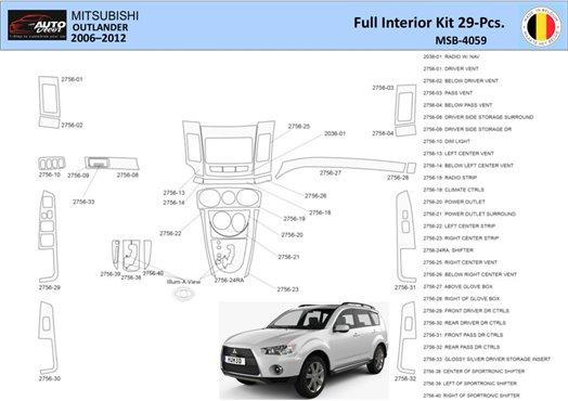 Chrysler 300 2005-2007 Full Set, Without NAVI system Interior BD Dash Trim Kit Car Tuning Interior Tuning Interior Customisation