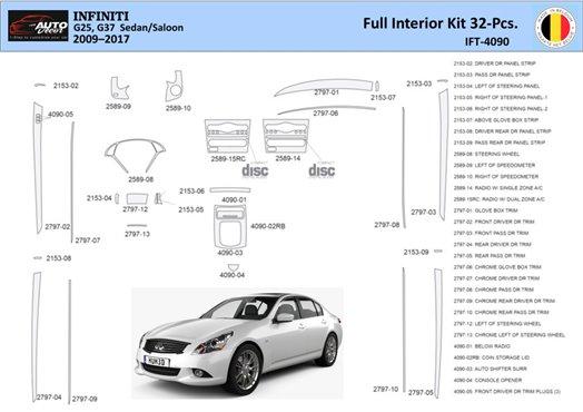Chevrolet Camaro 1994-1996 Automatic Gearbox, 9 Parts set Interior BD Dash Trim Kit Car Tuning Interior Tuning Interior Customis