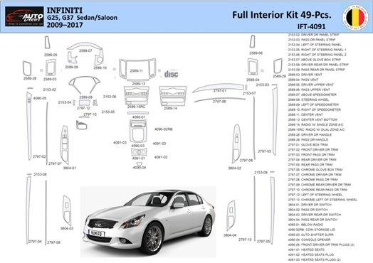 Chevrolet Cobalt 2005-UP Sedan, Automatic Gear Interior BD Dash Trim Kit Car Tuning Interior Tuning Interior Customisation UK Ri