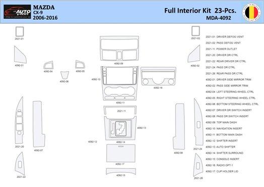 Chevrolet Cobalt 2005-UP Coupe, Automatic Gear Interior BD Dash Trim Kit Car Tuning Interior Tuning Interior Customisation UK Ri