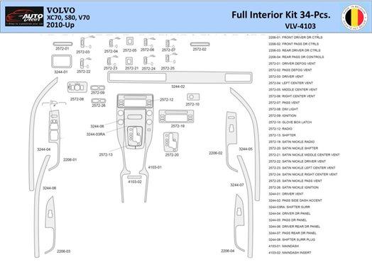 Chevrolet Cobalt 2005-UP Coupe, Manual Gear Box Interior BD Dash Trim Kit Car Tuning Interior Tuning Interior Customisation UK R