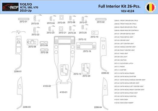 Chevrolet Cavalier 2000-2005 Full Set, Automatic Gear Interior BD Dash Trim Kit Car Tuning Interior Tuning Interior Customisatio