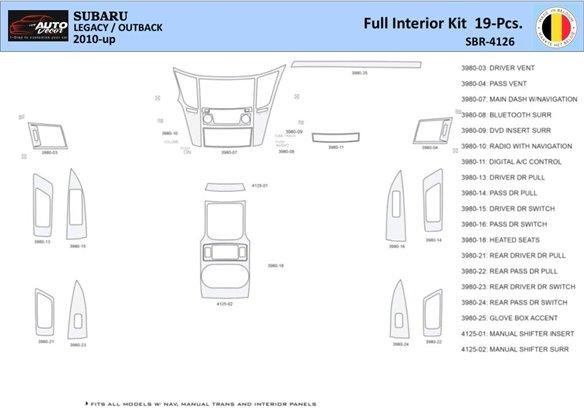 Chevrolet HHR 2006-2007 Basic Set Interior BD Dash Trim Kit Car Tuning Interior Tuning Interior Customisation UK Right Hand Driv