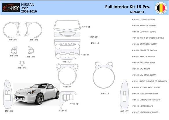 Chevrolet Corvette 2005-UP Full Set Interior BD Dash Trim Kit Car Tuning Interior Tuning Interior Customisation UK Right Hand Dr