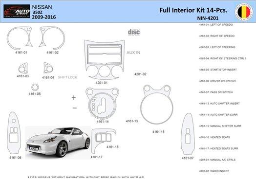 Chevrolet Corvette 1982-1982 Full Set, Automatic Gear Interior BD Dash Trim Kit Car Tuning Interior Tuning Interior Customisatio