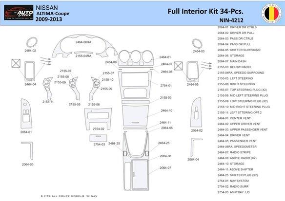 Chevrolet Trail Blazer 2002-UP Basic Set Interior BD Dash Trim Kit Car Tuning Interior Tuning Interior Customisation UK Right Ha