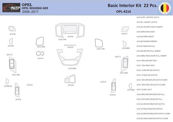 Chevrolet Corvette 1990-1996 Manual Gear Box Interior BD Dash Trim Kit Car Tuning Interior Tuning Interior Customisation UK Righ