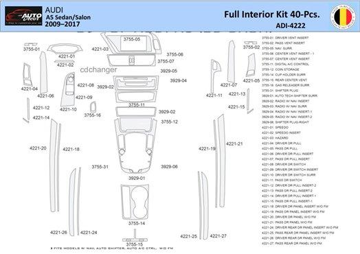 Chevrolet Impala 2000-2005 Full Set Interior BD Dash Trim Kit Car Tuning Interior Tuning Interior Customisation UK Right Hand Dr