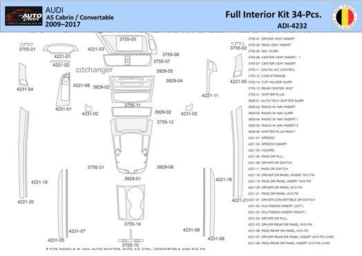 Chevrolet Uplander 2005-UP Full Set, OEM Interior BD Dash Trim Kit Car Tuning Interior Tuning Interior Customisation UK Right Ha