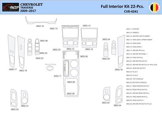 Chevrolet Uplander 2005-UP Full Set, Bucket Seats Interior BD Dash Trim Kit Car Tuning Interior Tuning Interior Customisation UK