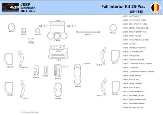 Daewoo Nubira 2000-2007 Full Set, Without glowe-box Interior BD Dash Trim Kit Car Tuning Interior Tuning Interior Customisation