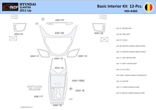 Daewoo Leganza 1999-2003 Full Set Interior BD Dash Trim Kit Car Tuning Interior Tuning Interior Customisation UK Right Hand Driv