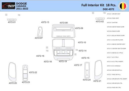 Dodge Nitro 2007-UP Basic Set, Automatic Gear Interior BD Dash Trim Kit Car Tuning Interior Tuning Interior Customisation UK Rig