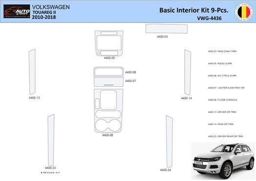 Dodge Caravan 2008-UP Full Set, Automatic AC Controls Interior BD Dash Trim Kit Car Tuning Interior Tuning Interior Customisatio
