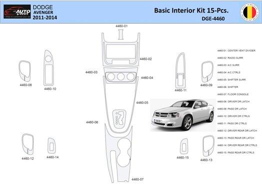 Ford Focus 2000-2002 Basic Set, Without Armrest, 2&4 Doors, 14 Parts set Interior BD Dash Trim Kit Car Tuning Interior Tuning In