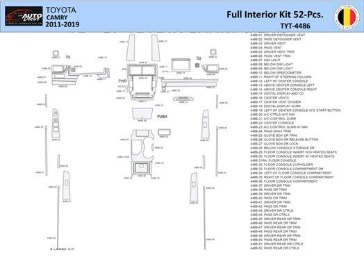 Ford Mustang 2005-2009 Folding roof-Cabrio, Basic Set Interior BD Dash Trim Kit Car Tuning Interior Tuning Interior Customisatio