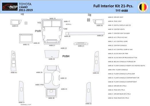 Ford Mustang 2005-2009 Soft roof-Coupe, Basic Set Interior BD Dash Trim Kit Car Tuning Interior Tuning Interior Customisation UK