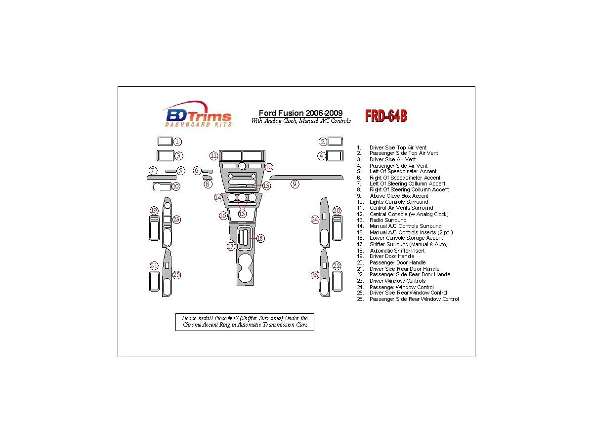 Ford Fusion Fuse Box Cabin 2006 Serpentine Belt Diagram Electrical Schematics Manual Transmission Various Owner Air Filter