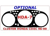 Honda Civic 1999-2000 Cluster, 1 Pc Interior BD Dash Trim Kit Car Tuning Interior Tuning Interior Customisation UK Right Hand Dr