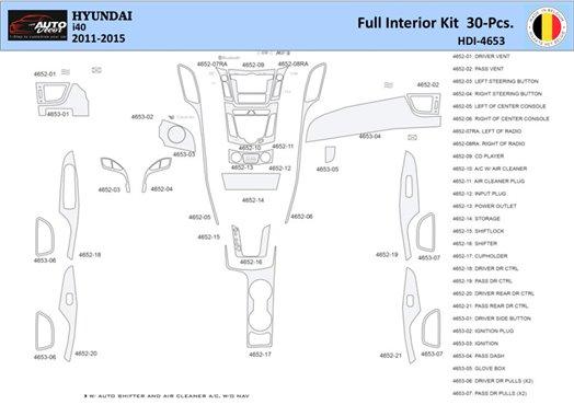 Honda Civic 2001-2001 Automatic Gearbox, 4 Doors, with glowe-box, 21 Parts set Interior BD Dash Trim Kit Car Tuning Interior Tun