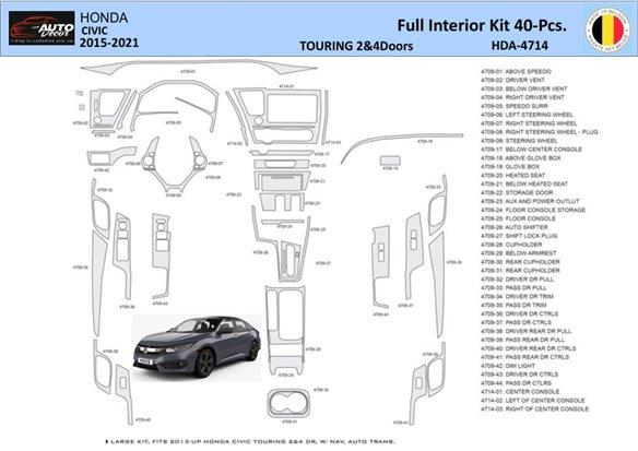 Honda CRX 1990-1991 Full Set, 19 Parts set Interior BD Dash Trim Kit Car Tuning Interior Tuning Interior Customisation UK Right