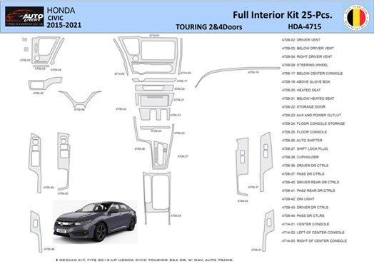 Honda CRX 1988-1989 Full Set Interior BD Dash Trim Kit Car Tuning Interior Tuning Interior Customisation UK Right Hand Drive Aus
