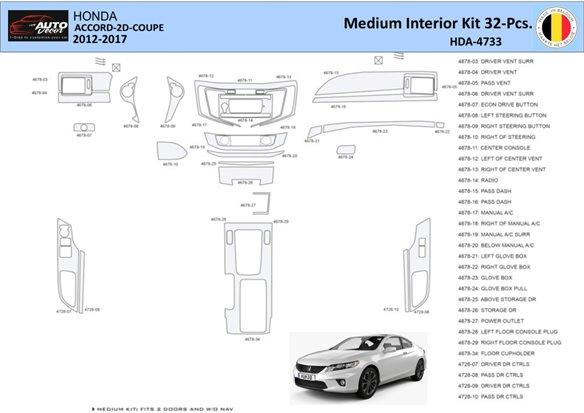 Honda Civic 1992-1995 2 Doors, Without glowe-box Interior BD Dash Trim Kit Car Tuning Interior Tuning Interior Customisation UK