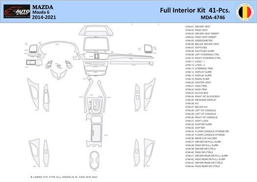 Honda Civic 1992-1995 4 Doors, With glowe-box Interior BD Dash Trim Kit Car Tuning Interior Tuning Interior Customisation UK Rig