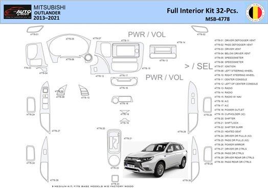 Honda CR-V 2007-2009 Full Set, EXL Model, Automatic Gear, With NAVI,with Heated Seats Interior BD Dash Trim Kit Car Tuning Inter