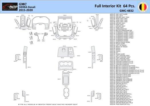 Honda CR-V 2007-2009 Basic Set, Without NAVI, Without Heated Seats Interior BD Dash Trim Kit Car Tuning Interior Tuning Interior