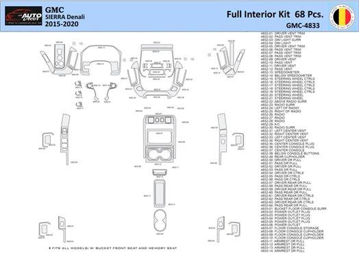 Honda CR-V 2007-2009 Basic Set, Without NAVI,with Heated Seats Interior BD Dash Trim Kit Car Tuning Interior Tuning Interior Cus