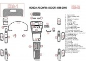 Honda Accord 1998-2000 4 Doors, Full Set, 28 Parts set Interior BD Dash Trim Kit Car Tuning Interior Tuning Interior Customisati
