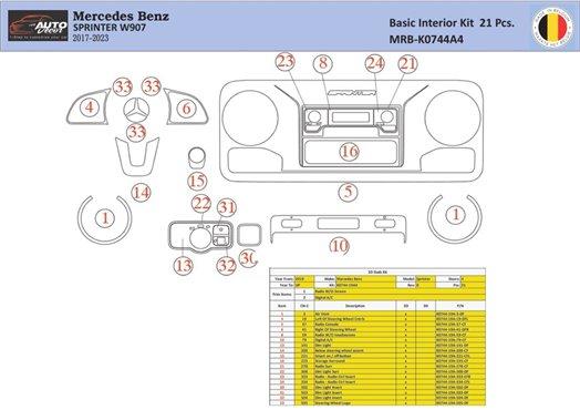 Honda Accord 1998-2000 glowe-box, 1 Parts set Interior BD Dash Trim Kit Car Tuning Interior Tuning Interior Customisation UK Rig