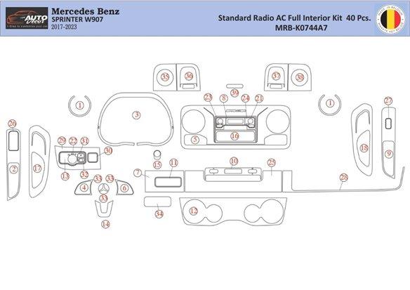 Honda CR-V 1997-1998 Full Set, 27 Pieces, Interior BD Dash Trim Kit Car Tuning Interior Tuning Interior Customisation UK Right H