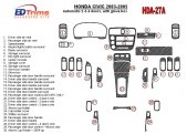 Honda Civic 2003-2005 Automatic Gear, 2 or 4 Doors, with glowe-box Interior BD Dash Trim Kit Car Tuning Interior Tuning Interior