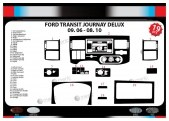 Ford Transit Journey 09.06-08.10 3M 3D Car Tuning Interior Tuning Interior Customisation UK Right Hand Drive Australia Dashboard