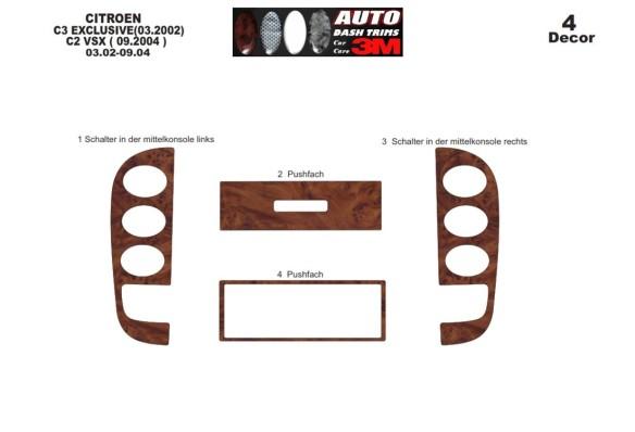 Honda Civic 04.01-06.06 3M 3D Car Tuning Interior Tuning Interior Customisation UK Right Hand Drive Australia Dashboard Trim Kit