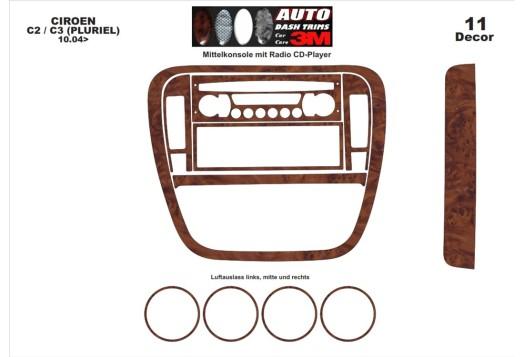Honda Civic 06.06-12.11 3M 3D Car Tuning Interior Tuning Interior Customisation UK Right Hand Drive Australia Dashboard Trim Kit