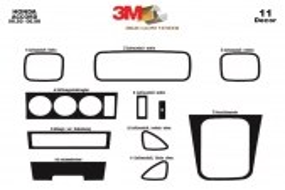 Honda Accord 06.92- 06.98 3M 3D Car Tuning Interior Tuning Interior Customisation UK Right Hand Drive Australia Dashboard Trim K