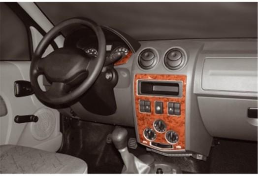 Volkswagen Passat B6 Tacho 02.05 09.10 Mittelkonsole Armaturendekor Cockpit Dekor 3 -Teile