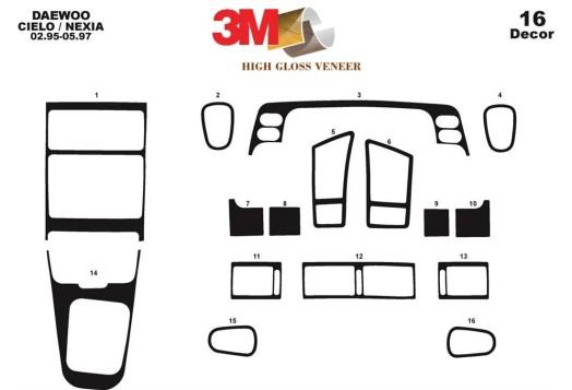 Hyundai Elantra 08.00-12.03 3M 3D Car Tuning Interior Tuning Interior Customisation UK Right Hand Drive Australia Dashboard Trim