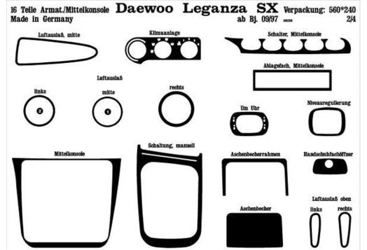 Hyundai Sonata 01.06-12.08 3M 3D Car Tuning Interior Tuning Interior Customisation UK Right Hand Drive Australia Dashboard Trim