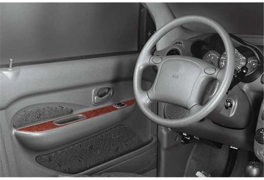 Hyundai Atos 03.98-06.06 3M 3D Car Tuning Interior Tuning Interior Customisation UK Right Hand Drive Australia Dashboard Trim Ki