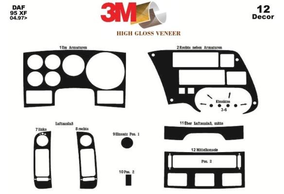 Hyundai H 100 01.98-07.04 3M 3D Car Tuning Interior Tuning Interior Customisation UK Right Hand Drive Australia Dashboard Trim K