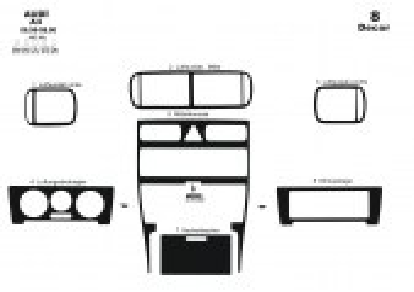 Volvo S 60 - V 70 05.05 - 12.09 Mittelkonsole Armaturendekor Cockpit Dekor 3 -Teile